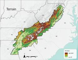 Terrain and Elevation | Southern Appalachian Vitality Index